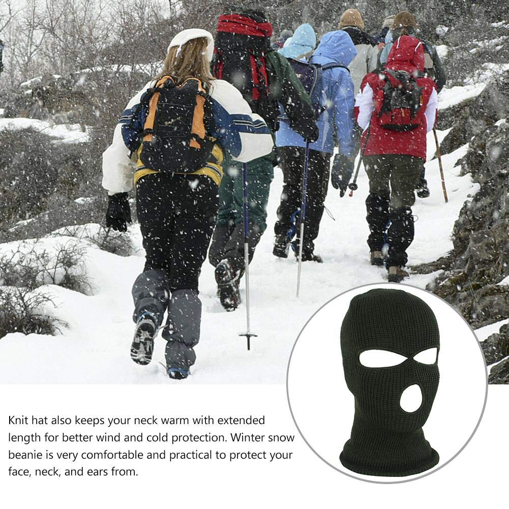 Ablerfly Full Face Cover Mask Three 3 Hole Balaclava Knit Hat Winter Stretch Snow Mask Thermal Ski Mask Warm Face Masks,keep Your Warm In Cold Weather For Skiing Snowboarding,etc. Boys Sports & Outdoor Clothing