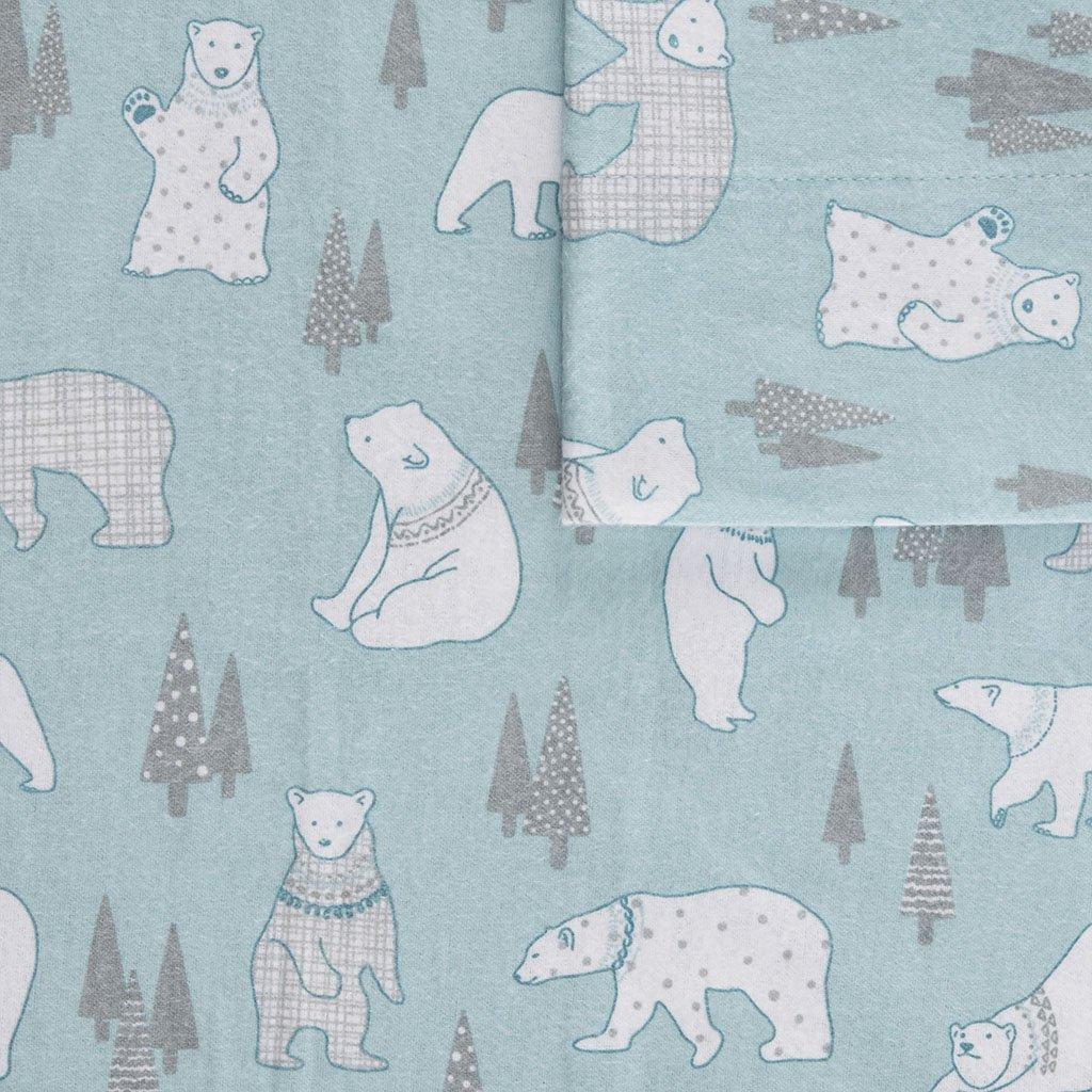 True North by Sleep Philosophy Cozy Flannel Sheet Set Multi Forest Animals Queen by True North by Sleep Philosophy (Image #4)