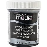 Deco Art Media Modeling Paste, 4-Ounce, Black