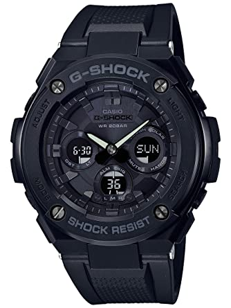 19a5ff37b812 Amazon.com  Men s Casio G-Shock G-Steel Black Solar Resin Watch  GSTS300G-1A1  Watches