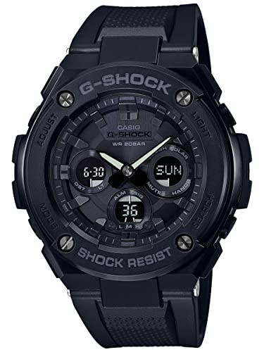 Amazon.com: Casio gsts300g-1 a1 Negro 55,9 mm Acero ...