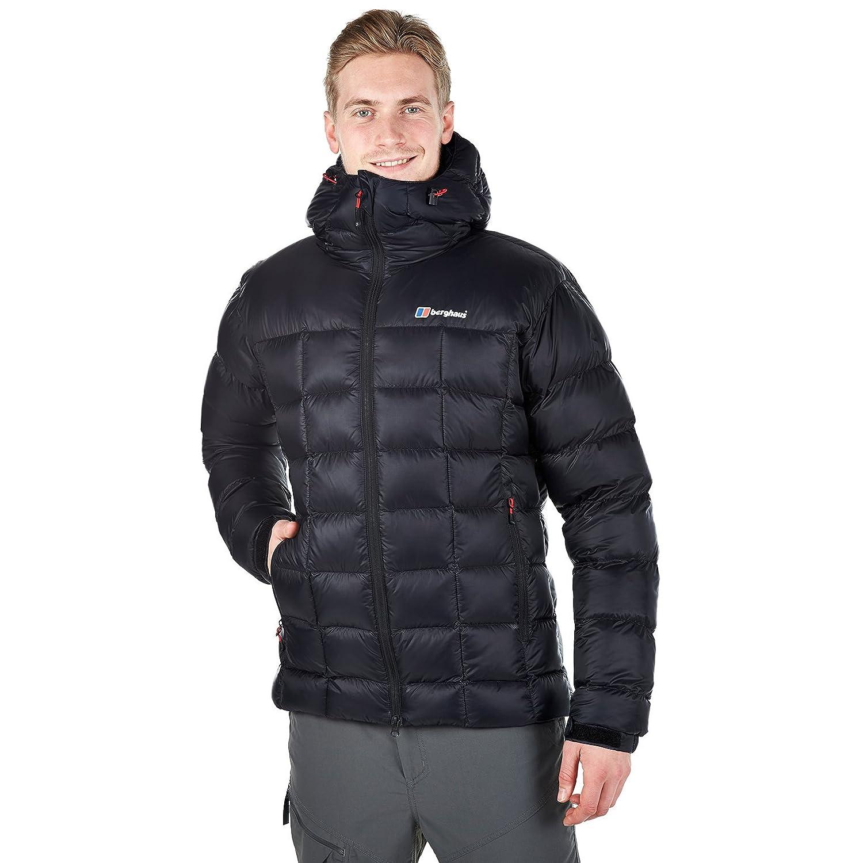 Berghaus Herren Popena Hooded Hydrodown Fusion Isolierte Jacke (schwarz) & Little Hotties Handwärmer (ein Paar)