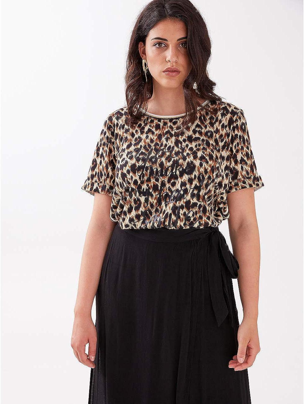 Fiorella Rubino : T-Shirt Animalier (Italian Plus Size) Nero