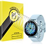 HATOSHI 6 PACK Screen Protector Compatible with Samsung Galaxy Watch 4 40mm/ Galaxy Watch Active 2 40mm/ Galaxy Watch Active