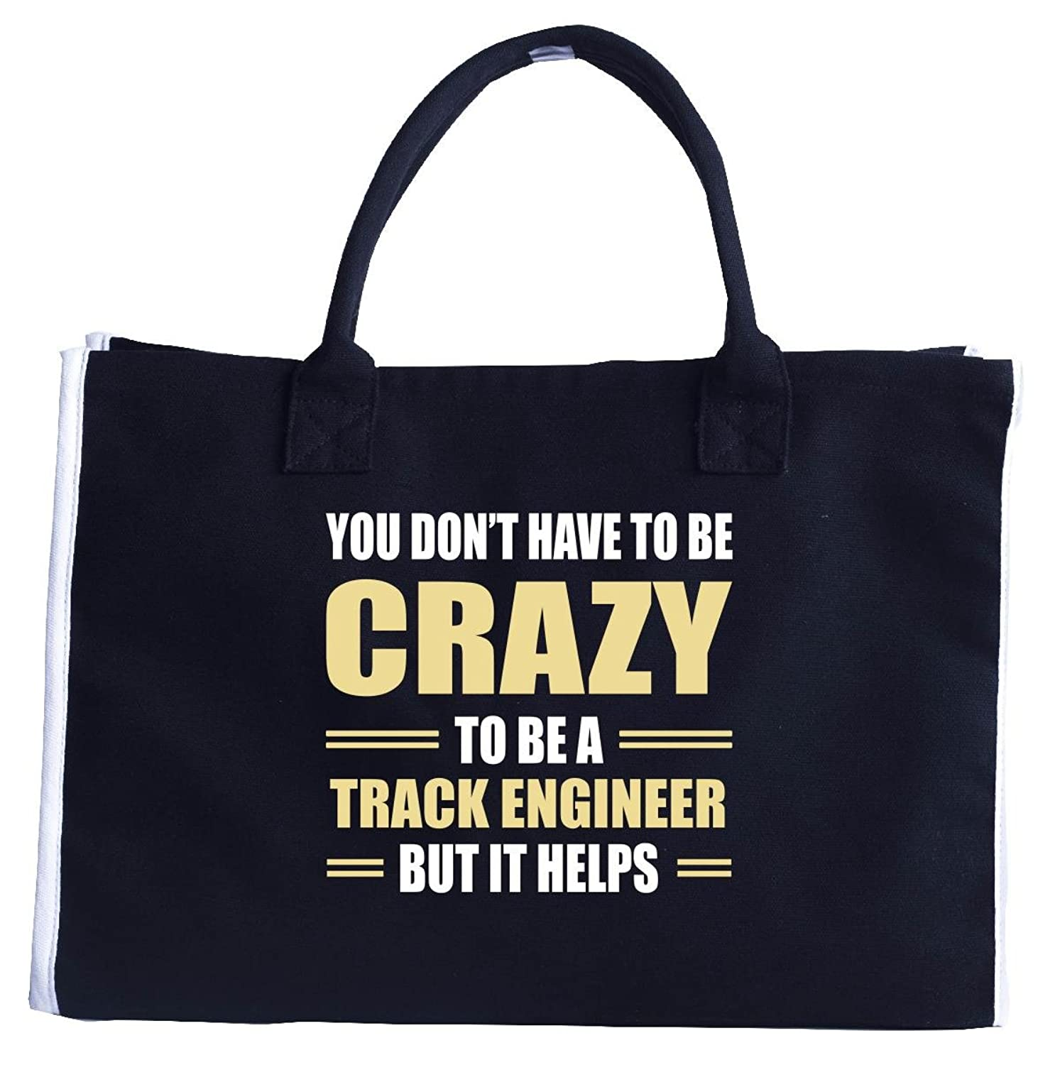 You Don't Have To Be Crazy To Be A Track Engineer - Fashion Tote Bag