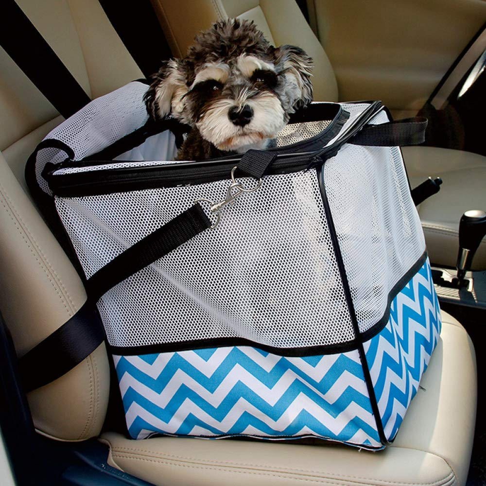 QZQWQNA Dog Chariot Car Seat Safety Portable Breathable House Puppy Bag Shoulder Travel Accessories Dog Cat Bags