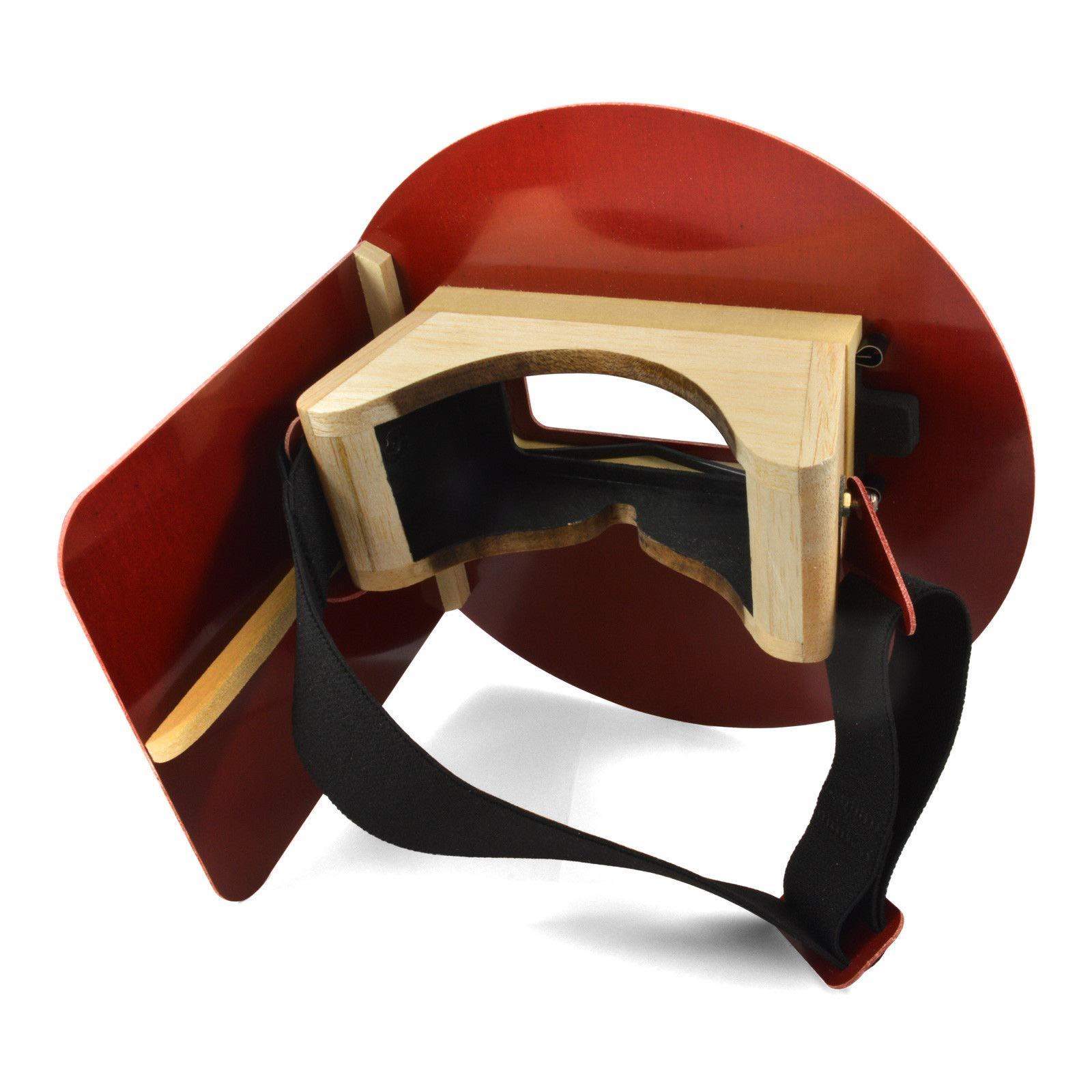 Wendy's Pancake Welding Hood Helmet w/Strap - Right Handed - RED