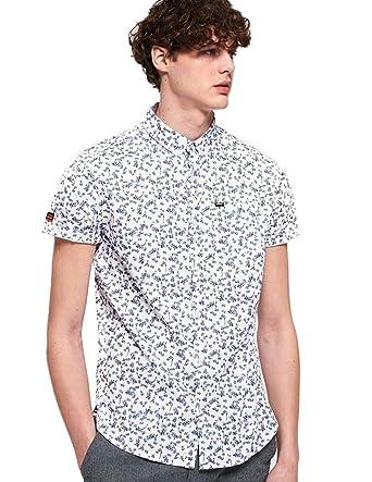 Superdry Premium Shoreditch S/S Shirt Camisa para Hombre: Amazon ...