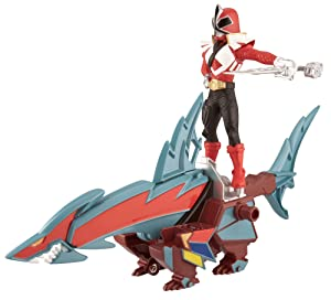 Power Ranger Zord Vehicle w/Figure, SharkZord with Red Ranger