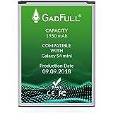 GadFull Batteria compatibile con Samsung Galaxy S4 mini | 2018 Data di produzione | Corrisponde al B500BE originale | Compatibile con Galaxy S4 mini i9190 |Dual SIM i9192|S4 mini LTE i9195