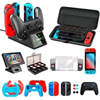 Accessories kit Bundle Compatible with Nintendo Switch, OIVO All in 1 Accessories Bundle Kit Compatible with Nintendo…