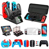 OIVO Accessories Kit Bundles Compatible with Nintendo Switch Starter, Accessories Bundle Kit for Nintendo Switch Console (All