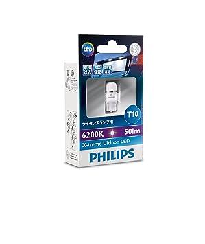 Philips X-treme Ultinon LED 127996000KX1 T10 1W LED W 2.1 x D 9.5 50lm bombilla ...