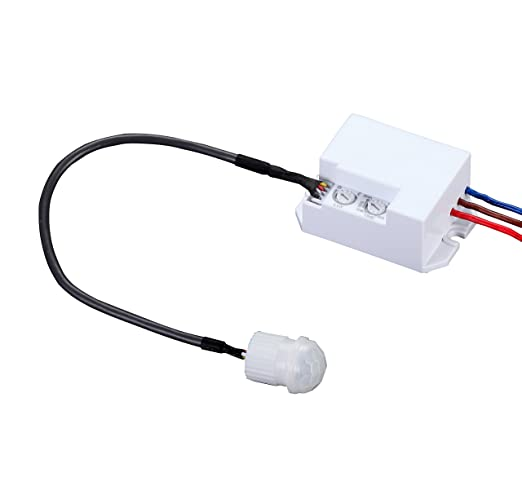 Garza Power - Detector de Movimiento Infrarrojos Integrable, Ángulo de Detección 360º, color Blanco: Amazon.es: Bricolaje y herramientas