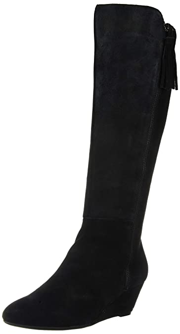 faa84ab26ab Amazon.com  Anne Klein Women s Alanna Wedge Boot Knee High  Shoes