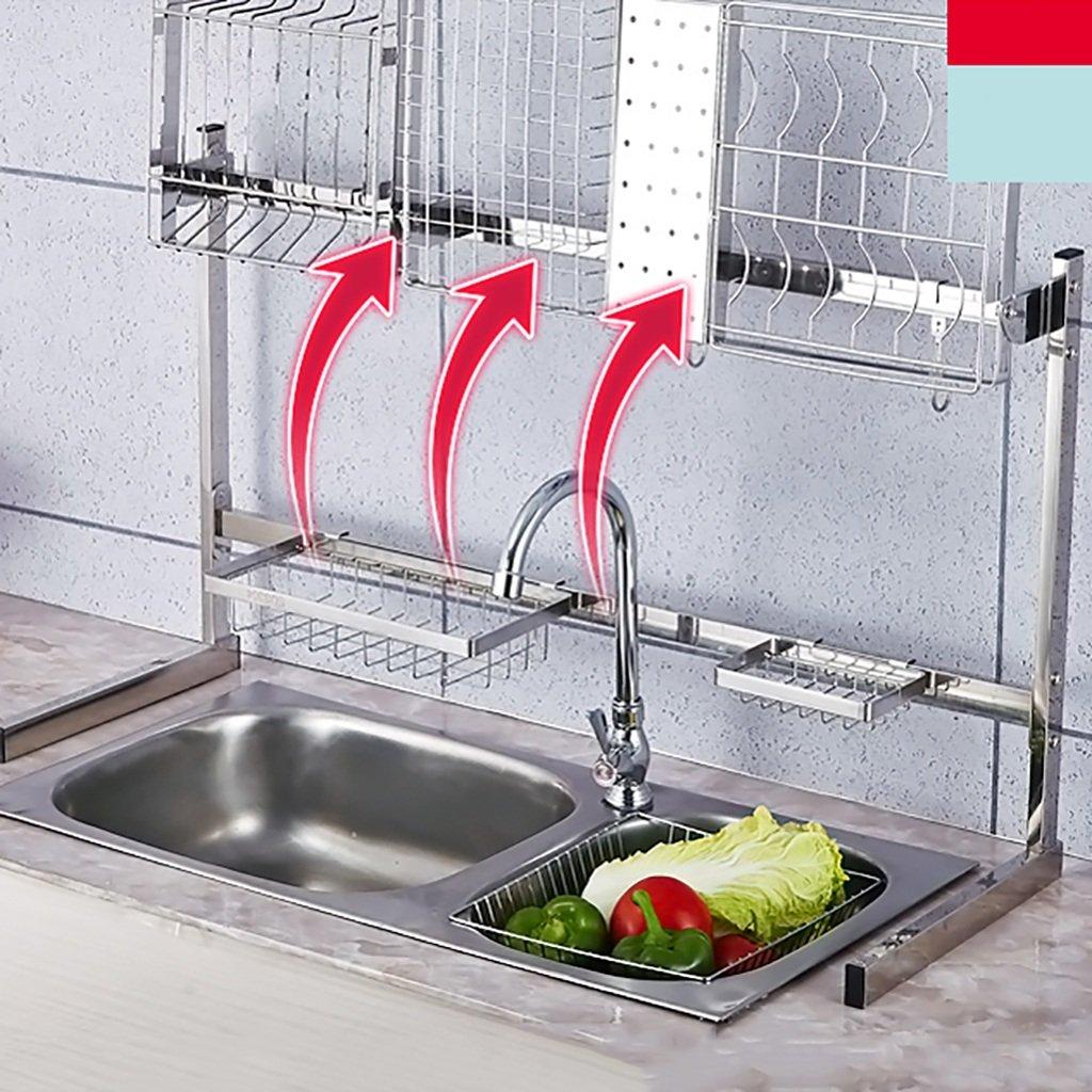WENZHE Estantería Colgante Cocina Baldas Lavabo Drene La Estantería Multifunción Acero Inoxidable Golpe Gratis, 8 Especificaciones (Color : L3): Amazon.es: ...