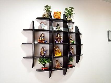 Woodkartindia Wooden Decorative Floating Wall Shelf / Display Unit ...