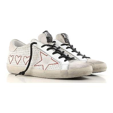 54d5079e Golden Goose Deluxe Brand Superstar 3 Hearts 1 Star Women Sneakers  G32WS590.G28 Size 40