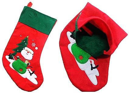 freessom medias de Navidad calcetines, decoración de techo árbol botas chimenea a colgar caramelos bolsa