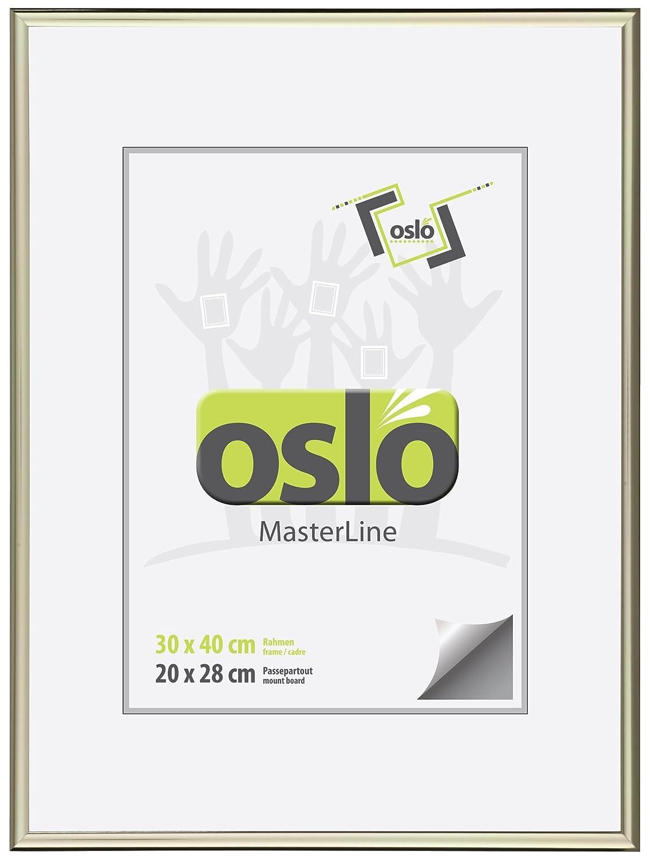 Amazon.de: OSLO MasterLine Bilderrahmen 30x40 Hell Gold glänzend ...