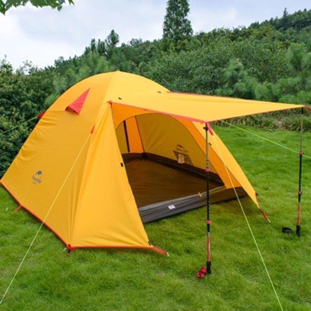 TY&WJ Campingzelt,Double Layer Wasserdicht Tipi Kuppelzelte Für Outdoor-sportarten Wandern Klettern Tipi Wasserdicht 3-4 Personen 0e0b1b