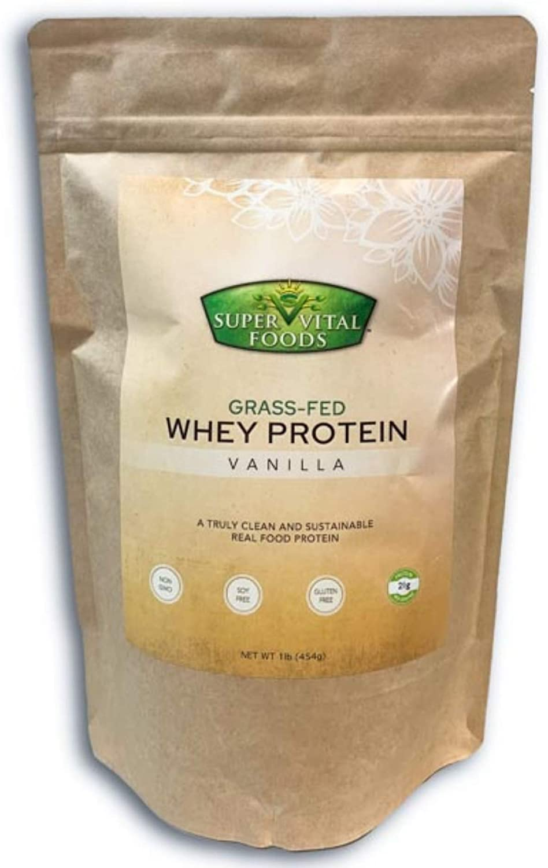 Super Vital Foods Grass Fed Whey Protein, Vanilla, 1 Pound (1 Pack)