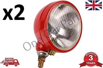 2x Rear Brake Light Lamp Massey Ferguson 360,362,365,375,390,396,398,399 Tractor