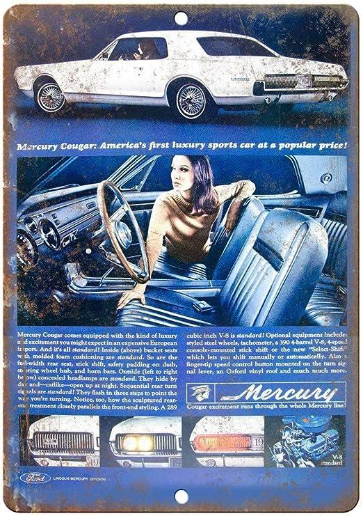 Nololy Mercury Cougar Sports Car Auto Vintage Étain Signe Métal ...
