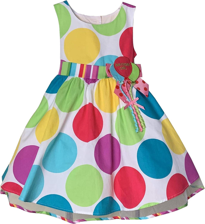 Bonnie Jean Girls Multi Color Polka Dot Birthday Party Dress /& Headband