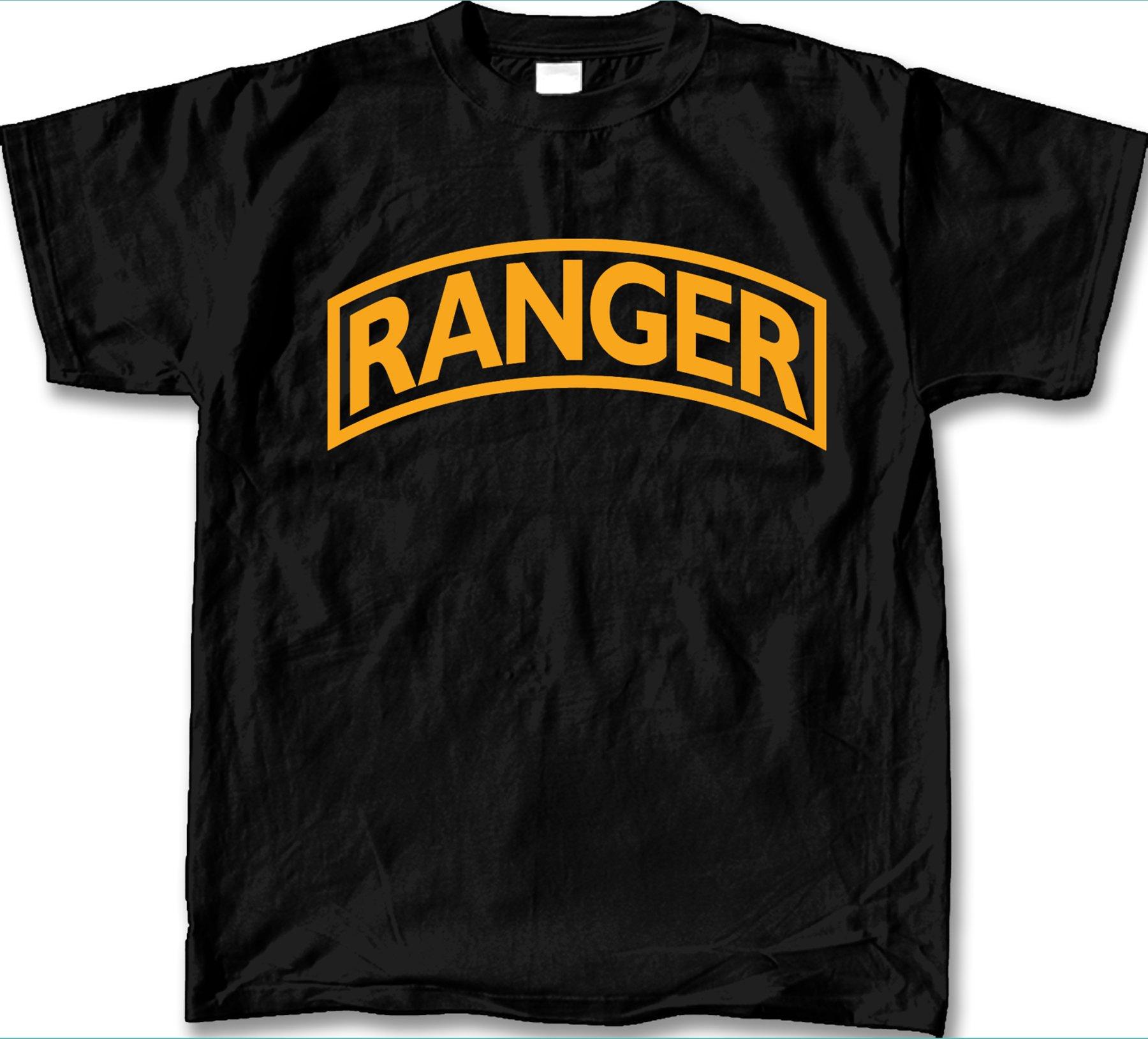 Ranger Tab Logo T-Shirt - BLACK (XL)