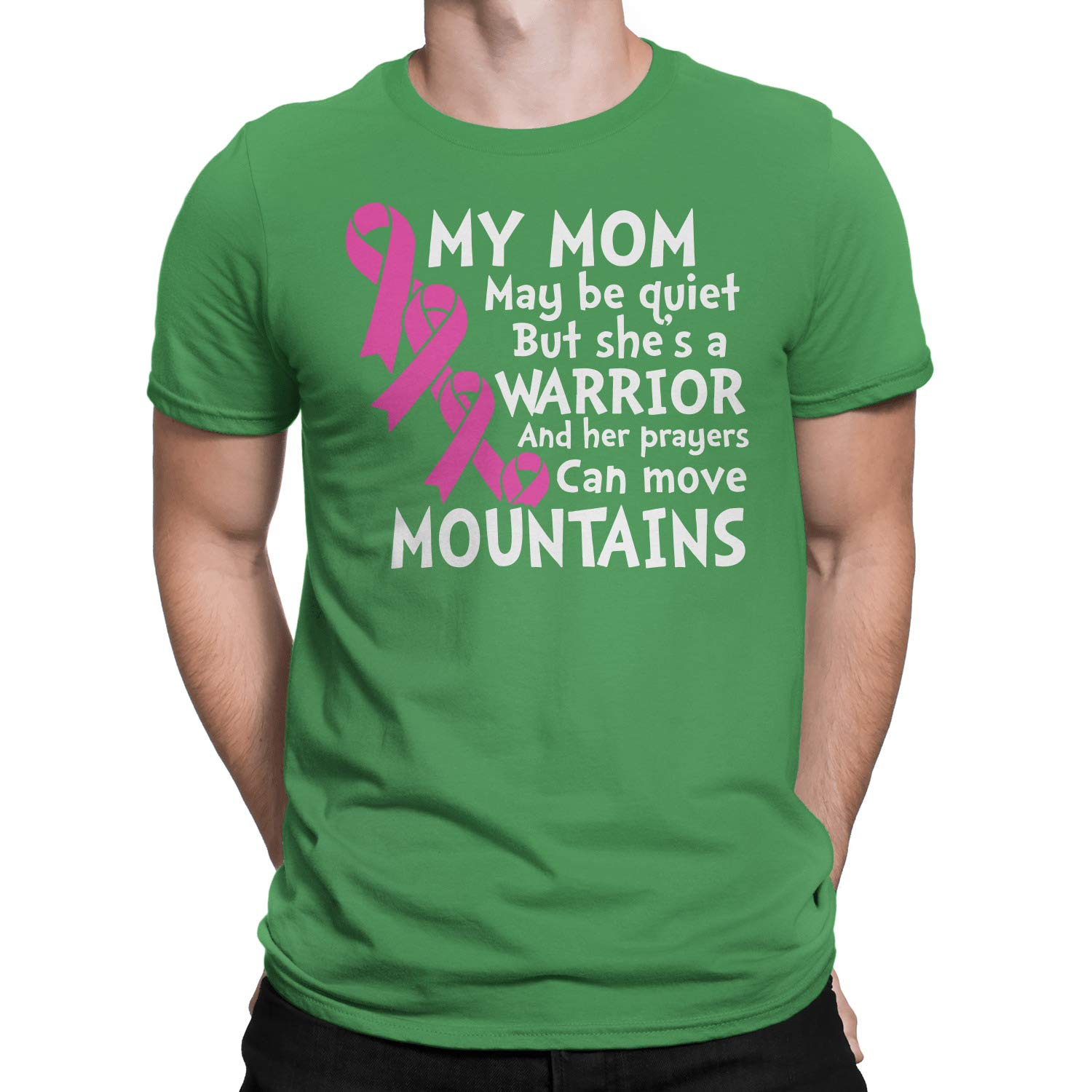 Breast Cancer My Mom Can Move Mountains T-Shirt
