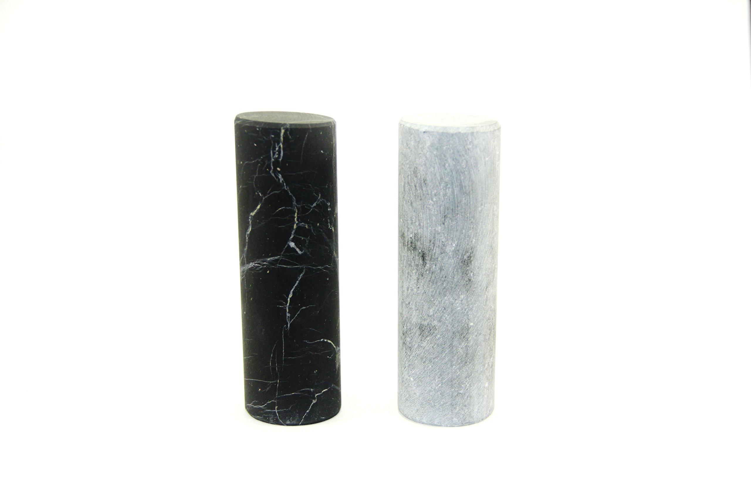 Unpolished Shungite Crystal Pharaoh Cylinders - 100% natural unpolished gemstone - Russia Stone - Gem - Semi precious Mineral - Reiki, Meditation, Crystal Healing - Alien Stone by Crystal Dreams (Image #3)