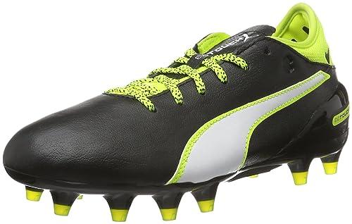 Puma evotouch 2FG Scarpe da calcio, (Schwarz (Black-white-safety Yellow