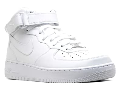 cheaper 9fb11 8d837 Nike Air Force 1 Mid 07 White White Mens Fashion Sneakers 315123-111 (