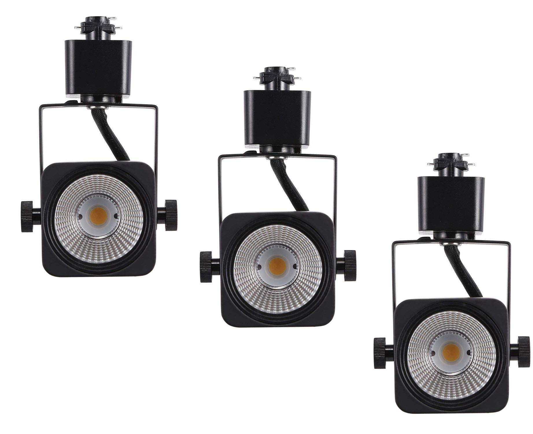 Cloudy Bay 8W Dimmable LED Track Lights Head,CRI 90+ Warm White,Adjustable Tilt Angle Track Lighting Fixture,40° Angle for Accent Retail,Black Finish, Halo Type - 3 Pack by CLOUDY BAY