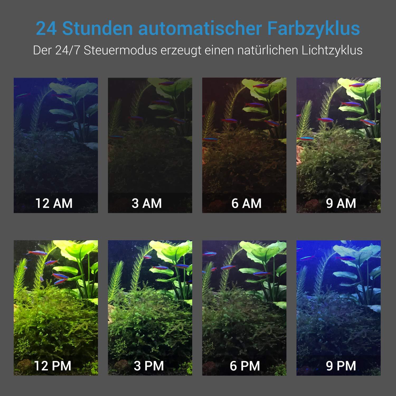 NICREW LED Luz del Acuario RGB, Lámpara de la Planta de Acuario con Control Remoto, Acuario Completamente Automatizado luz LED, Iluminación LED para ...