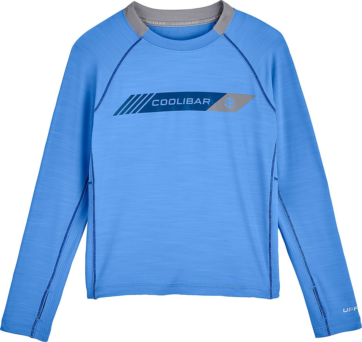 Coolibar UPF 50+ Boys' Long Sleeve Performance Graphic Tee - Sun Protective (X-Large- Spring Blue)