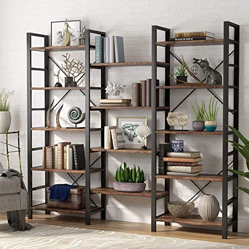 Tribesigns Rustic 5 Tier Bookcase