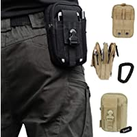 Artcraft(TM) Sand Molle Camo Bag Military 1000D Nylon Utility Tough Heavy Duty Tactical Compatible Waist Pack Universal Waist Bags Casual Climbing Hiking Outdoor Rock Gear Holster Pouch Cycling Carrying Big Pouch Belt Waist Bag / Pocket for HTC ALL FIT Case Cover Skin by Bilibili