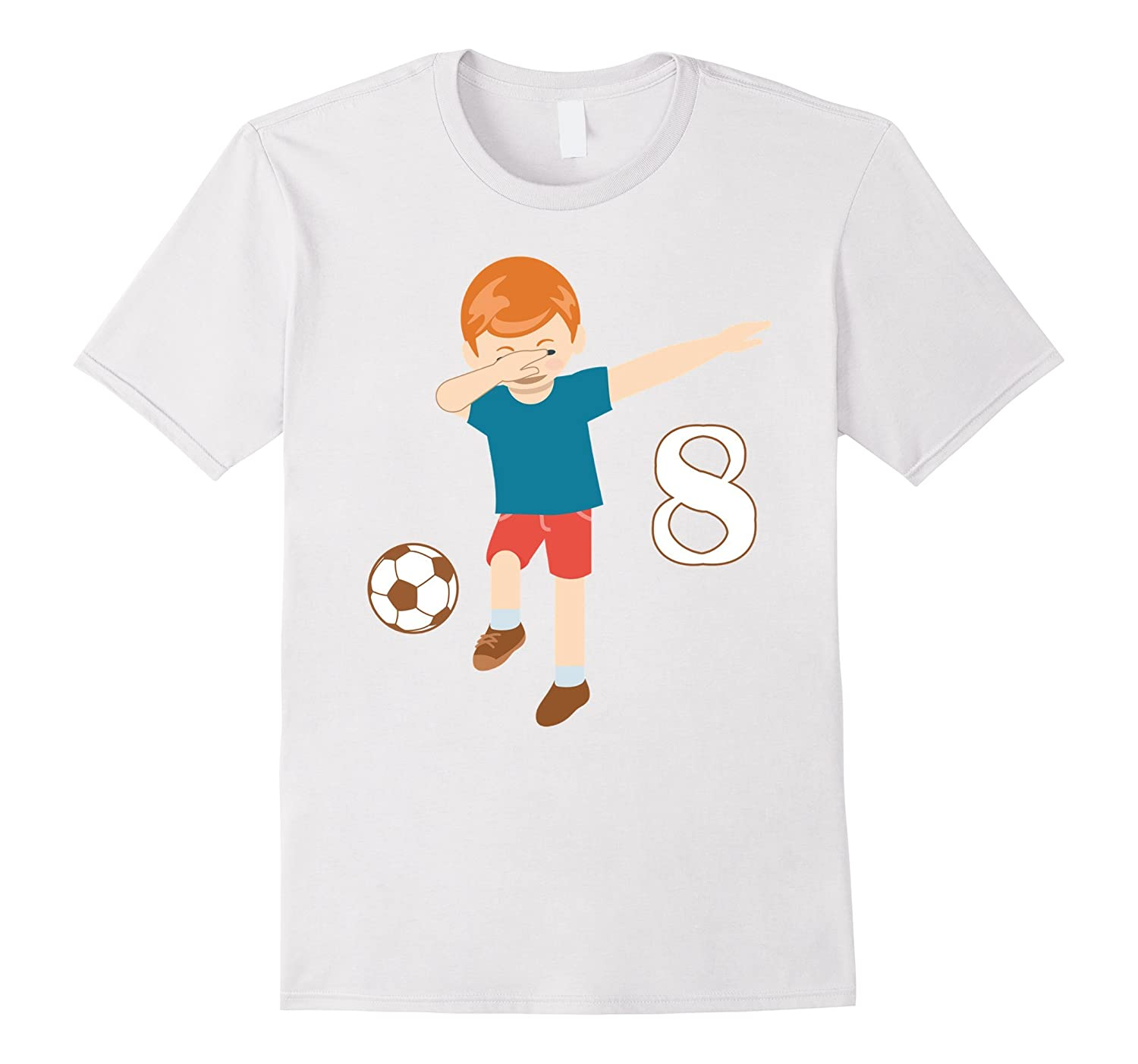 Dabbing Dance 8 Years Old Birthday T Shirt For Boys Soccer ANZ