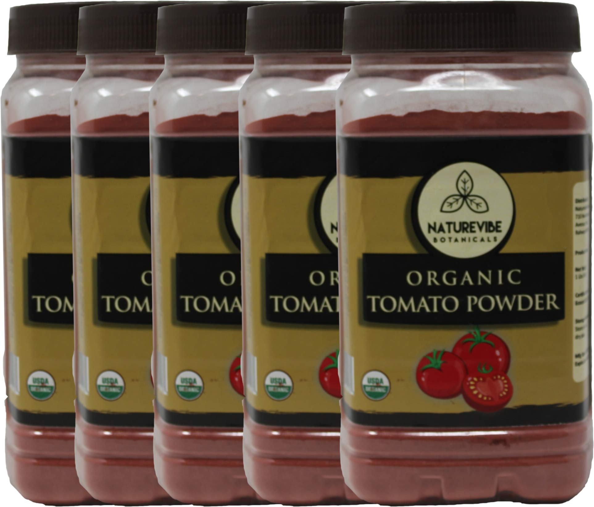 Naturevibe Botanicals Organic Tomato Powder 5Lb (5 Packs of 1lb each) | Non GMO | Boosts Digestion| Adds flavour and taste....