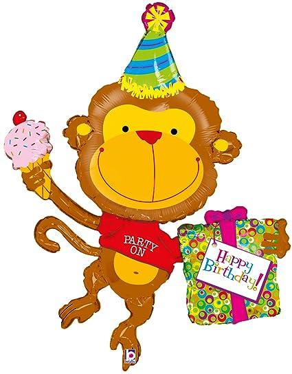 Burton 49 Packaged Happy Birthday Monkey Balloon Amazon In Toys Games