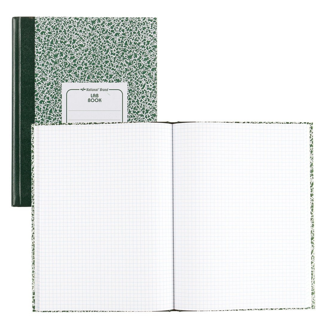 National 53110 Lab Notebook, Quadrille Rule, 10 1/8 x 7 7/8, White, 96 Sheets
