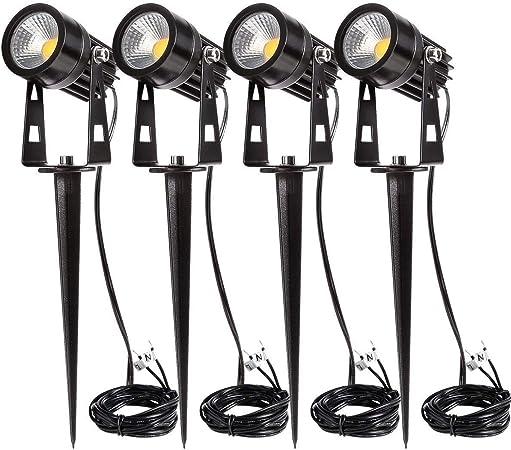Full Kit Mini 12 v volt 3W LED  Outdoor garden spot light spike Transformer