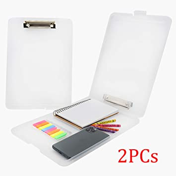 A4 Plastic Storage Clipboard+Box File Document Clip Case Students Office Profes