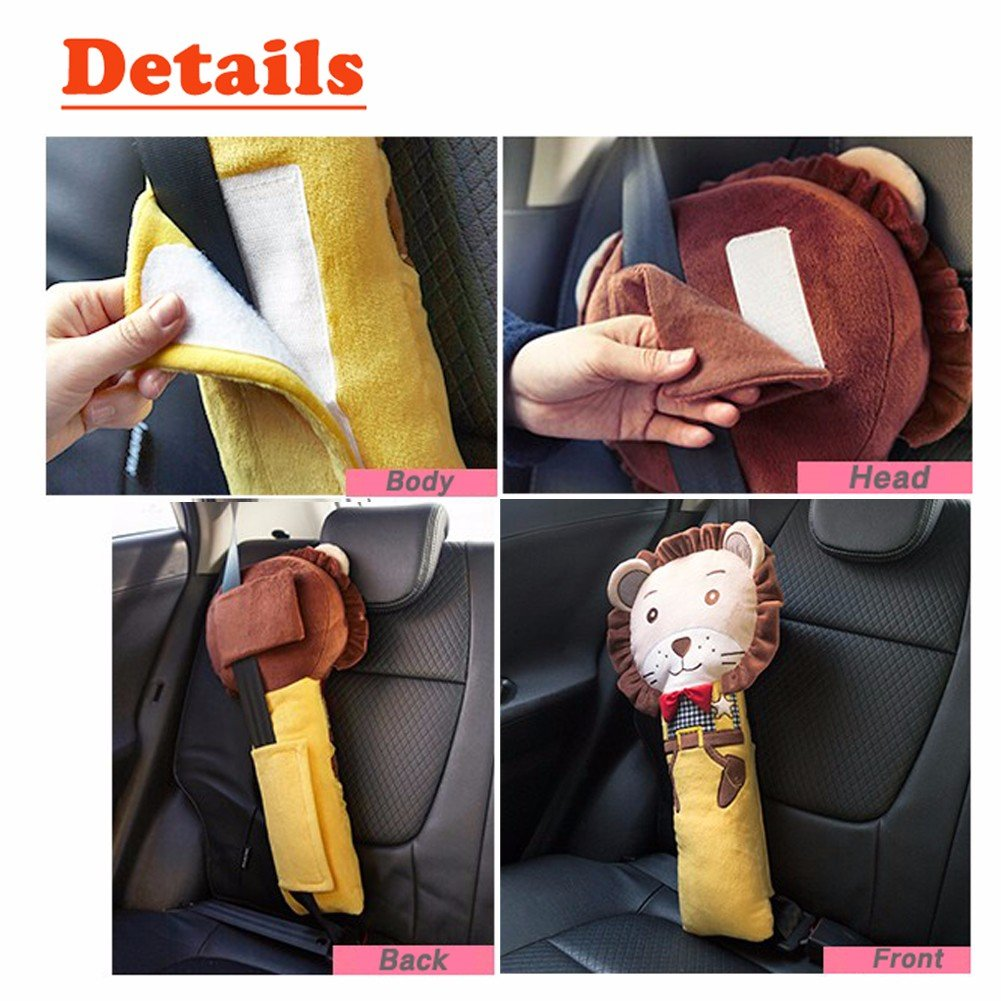 Car Seat Strap Shoulder Pads Covers for Kids Child Safety Belt Pillow Bear