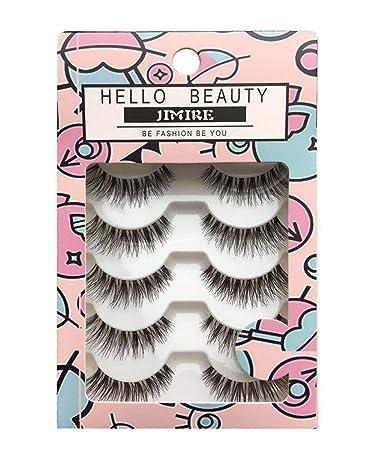 3842e0219ff Amazon.com: JIMIRE Fake Eyelashes Natural Wipsy Lashes False Eyelashes  Multipack: Beauty