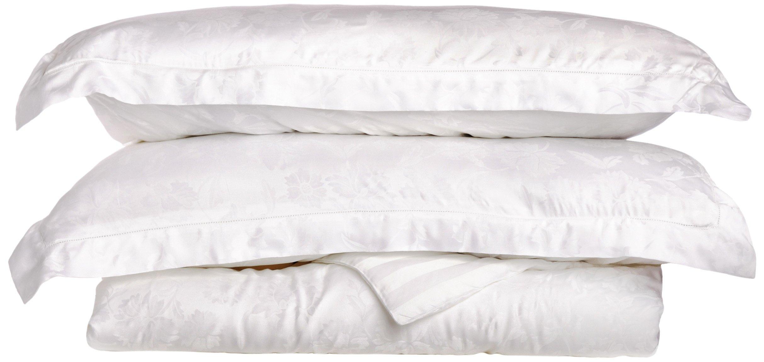 Tuscany Fine Linens Livorno 100-Percent Beechwood Modal Duvet Cover Set, White, King by Tuscany Fine Linens (Image #1)