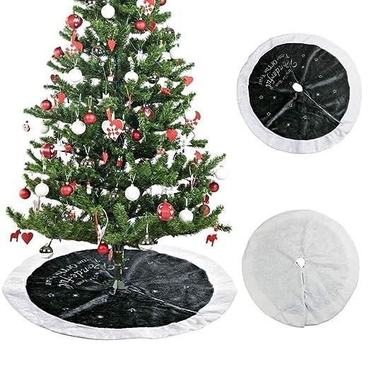 CviAn Falda de árbol de Navidad de 90 cm, Falda de árbol de ...