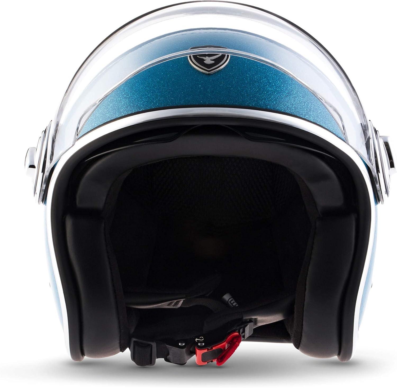 "61-62cm SOXON/® SP-888 Pro /""Urban Black/"" /· Jet-Helm /· Motorrad-Helm Bobber /· ECE Sonnenvisier Leather-Design Schnellverschluss SlimShell Tasche XL"